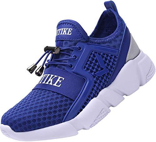 Sneakers Bambini Ragazzi Scarpe da Corsa Ragazze Trainer Ragazzi Scarpe Sportive Scarpe da Ginnastica all'aperto Scarpe da Interno Unisex(Blu 36EU)