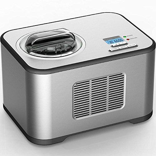 Vollautomatische Edelstahl Eismaschine mit Kompressor-Frozen Yogurt-Milchshake Maschine-Flaschenkühl…