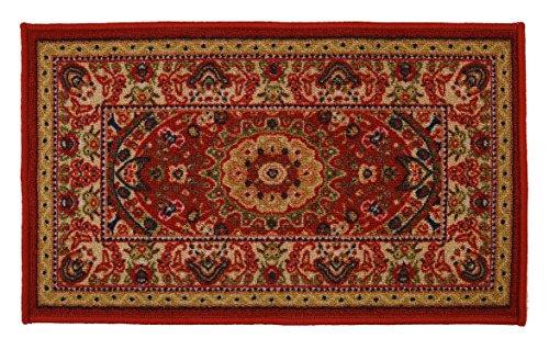 Mahal Allover Traditionellen Persischen Oriental Design Läufer und Bereich Teppich Rot Farbe Bedruckt Rutschfest Schlagfeste Gummi Rückseite Modern 18