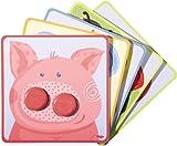 Haba 301059 - Zuordnungsspiel Kunterbunte Tierwelt, Lustiges Motorikspielzeug ab 18 Monaten zum Farbenlernen, Mit niedlichen Tiermotiven