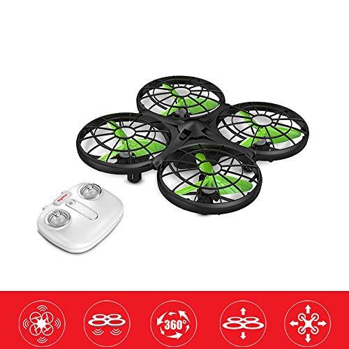 YOOCR Mini-Drohne Einfach zu fliegen, auch for Kinder und Anfänger, RC Hubschrauber Quadcopter mit Auto-Hovering, Headless-Modus Kinderfeiertagsgeschenk Grün