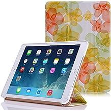 MoKo Funda para iPad Air 2 - Ultra Slim Lightweight Función de Soporte Protectora Plegable Smart Cover Durable para Apple iPad Air 2 (iPad 6) 9.7 Pulgadas Tableta, FM AMARILLO (Auto Sueño / Estela)