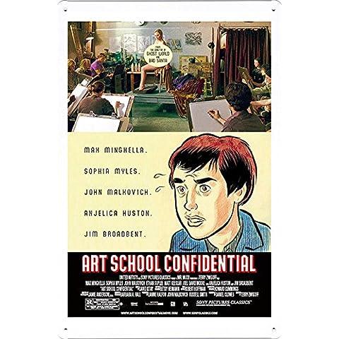 Metallo Poster Targa in metallo Piastra Retro Movie Film Vintage