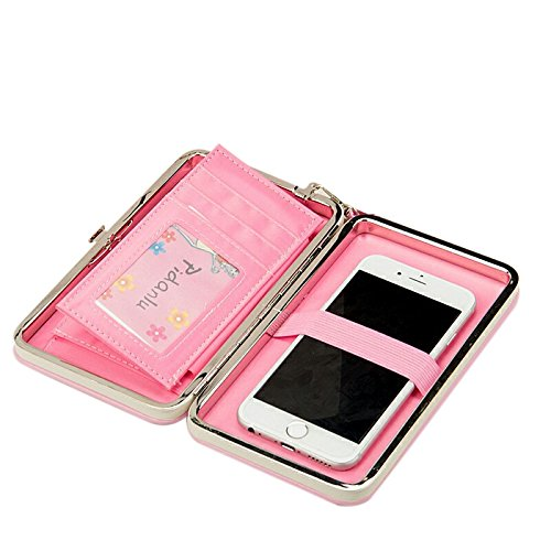 Starz Universal Wallet Case Luxury PU Leather Pouch Purse Cover for Cell Mobile Phones Sky Blue