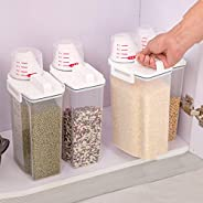 Cereal Storage Containers,Cereal Container with lids BPA Free & Food Grade Plastic,Clear Food Storage Box