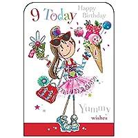 Jonny Javelin Girl Age 9 Happy Birthday Card