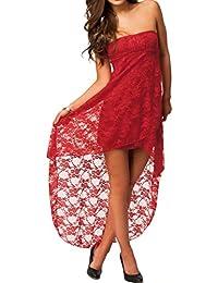 Dissa® Bandeau rouge soirée dentelle robe,Rouge
