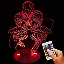 Spiderman Deko lámpara Come To Me (3d de discapacitados Illusion)