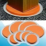Das Super Möbel Gleiter - Original Orange Scheiben Von Medipaq - Beweglicher Schwere Möbel War Nie Einfacher. 8 Stück Value Pack.
