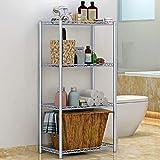 LUTAP Stahlboden Regal Abstellfläche für Badezimmer Küchenregal mit Mikrowelle Wohnzimmer, Das Multifunktionsregal Beendet