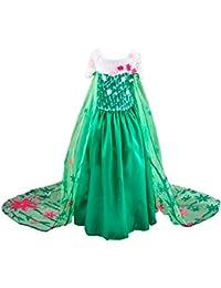 Disfraz de la Princesa ELSA ANNA de Frozen Vestido Niña
