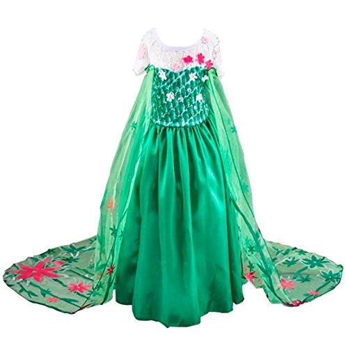 Disfraz de la Princesa ELSA ANNA de Frozen Vestido Niña (120 (4-5 años))