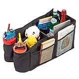 iKross Autositztasche, Auto-Rücksitz-Falttasche Faltbox Automotive-Organizer Aufbewahrungskist mit Becherhalter