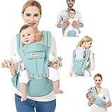 Viedouce Porte-bébé Ergonomique Multi-fonctions Ajustable,Pur coton Porte-bébé avec Capuchon Amovible à l'arrière avec Bretelles Souples et Respirantes,Protection Complète(0~48 mois)