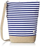 Bench Damen Canvas Cross Bag Handtasche, Bright White, 36 x 13 x 42 cm