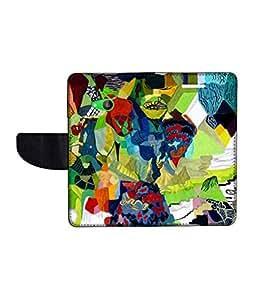 KolorEdge Printed Flip Cover For Microsoft Lumia 535 -Multicolor (50KeMLogo10491Lumia535)
