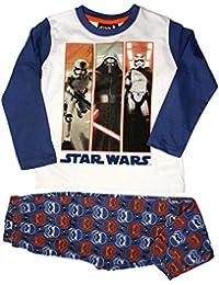 Star Wars Official Boys Long Pyjama Set Age 4/10 Years