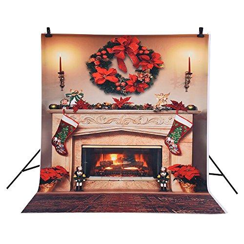 grafie Hintergrund Weihnachten-Kamin-Muster für Kinder Kinder Baby-Foto-Studio-Portrait Shooting ()
