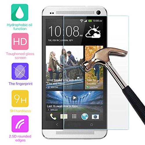 Cuitan Pellicola Protettiva in Vetro Temperato per HTC One E8 / M8Sw, Ultra Sottile 0.33mm, 9H Durezza, 2.5D, Transparente, Antigraffio, Anti-impronte Display Protezione dello Schermo Tempered Glass Screen Protector per HTC One E8 / M8Sw -