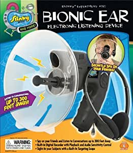 POOF-Slinky 016000BL Slinky Science Bionic Ear Electronic Listening Device by Slinky Science TOY (English Manual)