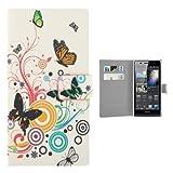 jbTec® Flip Case Handy-Hülle zu Huawei Ascend P6 - BOOK