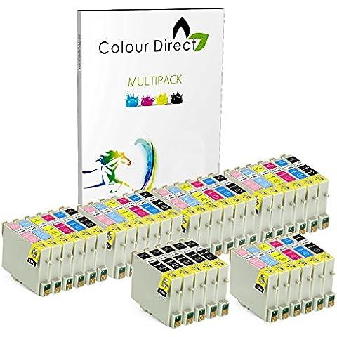 5 Conjuntos + 5 Negro ( 35 Tinta ) Colour Direct Compatible cartuchos de tinta Reemplazo para Epson Stylus Photo R200 R220 R300 R300M R320 R330 R340 RX300 RX320 R350 RX500 RX600 RX620 RX640 impresoras