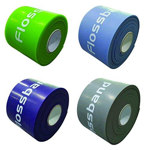 Flossband 2-er-Set Therapie, Level 1+3, Bandbreite 5cm,Markenqualität von Sanctband nach dem EASYFLOSSING-Konzept von Sven Kruse - leicht und stark / Level 1+3 / 1,10mm+1,60mm