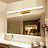 Yanlana Retro E27 Wandlampe Einstellbar Modern Led Wandleuchte Für Schlafzimmer Wohnzimmer Treppenhaus Flur Schlafzimmer, Küche, Restaurant, Caféglas Vorne Licht Wasserdicht Badezimmer Waschbecken Waschbecken - Spiegel Spiegelschrank,150 Cm - Sind Weiß
