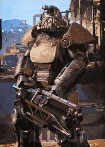 te 50 x 70 cm: Fallout von Durro Art (Fallout Rüstung)