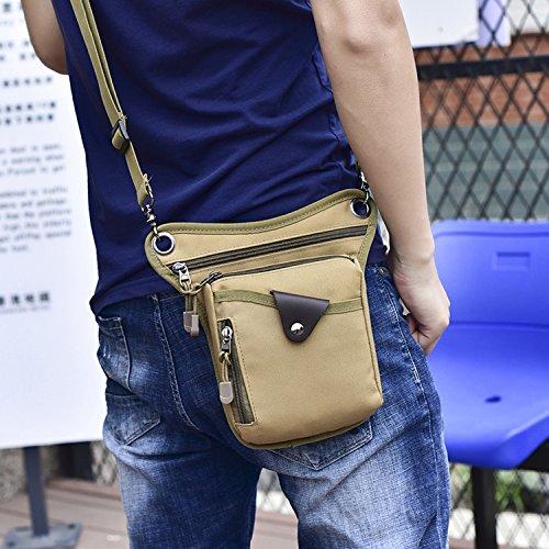 Imagen para Foino Riñonera Deporte Bolso de Cintura Hombre Bolsas de Viaje Bolsa de Pierna Gimnasio Bolso Bandolera Carteras Bolsa Lateral Sport Bag