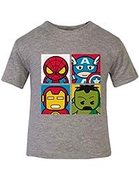 3a9cb9b3b Heros – Camiseta infantil Top Manga Corta Para Niños Hero Comics superhéroe  Novelty Kidswear superhéroe Hulk
