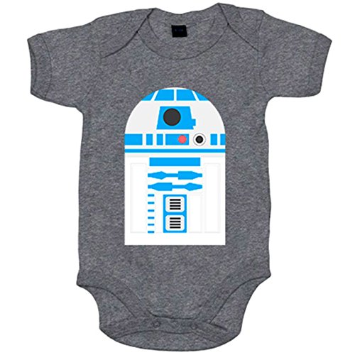 Body bebé Star Wars R2D2 androide - Gris, 6-12 meses