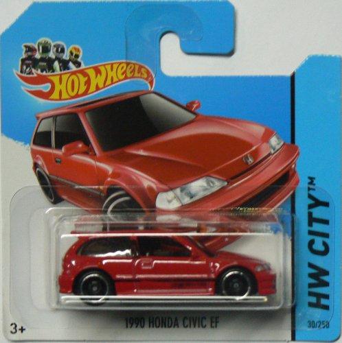 1990 Honda Civic EF '14 Hot Wheels 30/250 (Red) Vehicle by Hot Wheels
