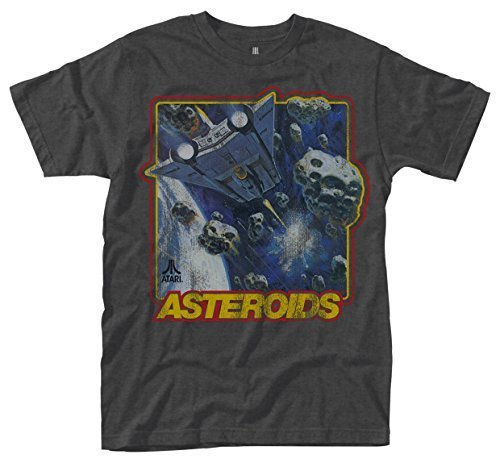 Atari Asteroids Grey T-shirt Official Licensed Game