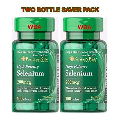Puritan's Pride Selenium 200 Mg Two Bottle Saver Pack 200 Tablets( 201) by PURITAN'S PRIDE