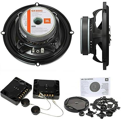 JBL GX600C-Kit de audio-Altavoces de 2 Vías para puertas de coche 16,5 cm, 140 w, 420 w máximo 2,3 Impedancia ohmios, color negro