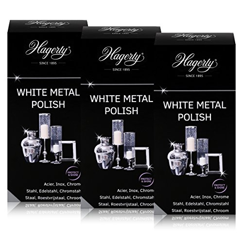 Hagerty White metal Polish - Polisher for steel, stainless steel 250 ML (3 units)