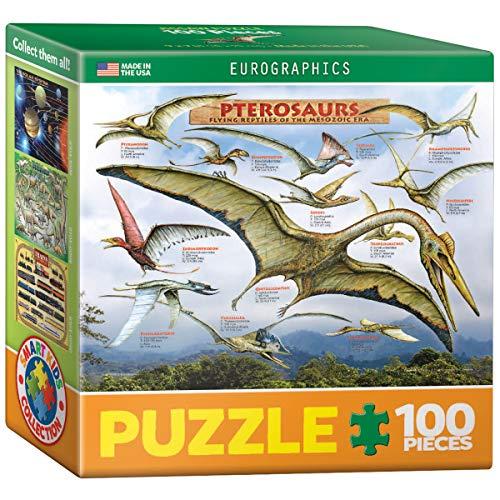 Euro Gráficos Puzzle (Mini) 100 pcs - pterosaurios - Reptiles voladores - (EG81040680)