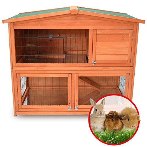 Zooprimus Kaninchenstall 21 Hasenkäfig – HASENHAUS-XL – Stall für Außenbereich (GRÖßE: (XL)   für Kleintiere: Hasen, Kaninchen, Meerschweinchen usw.) - 6