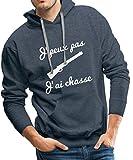 J'Peux Pas J'Ai Chasse Sweat-shirt à capuche Premium pour hommes de Spreadshirt®, XXL, bleu jeans