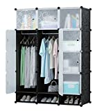 #7: GTC Multi Use Clothes Organizer, Bookcase, Storage Cabinet, Wardrobe Closet 110.5 x 47 x 163.5 CM Cloth Rack ( IT N - STW037 )