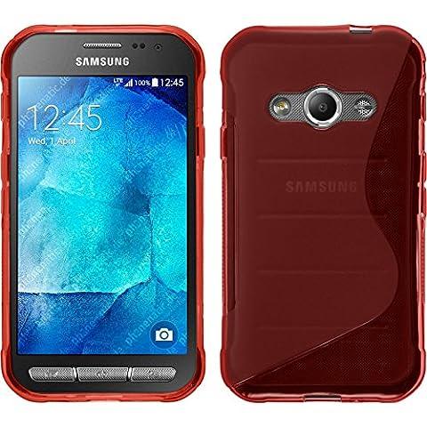 PhoneNatic Case für Samsung Galaxy Xcover 3 Hülle Silikon rot