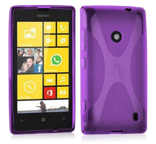 Preisvergleich Produktbild Cadorabo Hülle für Nokia Lumia 520 - Hülle in FLIEDER VIOLETT – Handyhülle aus flexiblem TPU Silikon im X-Line Design - Silikonhülle Schutzhülle Soft Back Cover Case Bumper