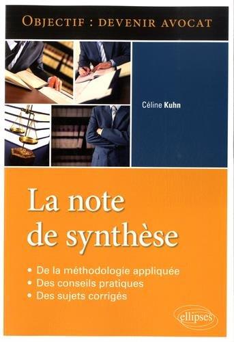 Objectif Devenir Avocat La Note de Synthèse