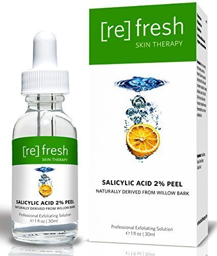 Salicylic Acid 2% Daily Organic Peel Extracted From Willow Bark - With Beta-Hydroxy Acid (BHA) To Fight Acne & Scars, Aging Skin, Wrinkles & Skin Fatigue - A Perfect Home Treatment Peel by Refresh Skin Therapy (Beta-hydroxy-peel)