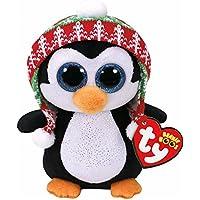 Ty Beanie Boos Navidad Penelope-Pingüino 15 cm (37239TY), Color Negro, Blanco (United Labels Ibérica