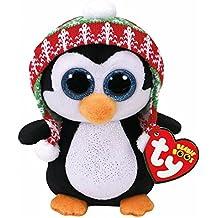 TY - Beanie Boos Navidad Penelope - Pingüino 15 cm (United Labels Ibérica 37239TY)