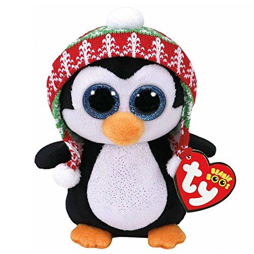 Ty Beanie Boos Navidad Penelope Pingüino 15 cm (37239TY), Color Negro, Blanco (United Labels Ibérica