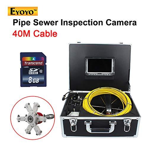 MYZZ 40M Rohrleitung Drain Kanalisation Industrie Endoskop Video Sanitär-System mit IP68 wasserdicht mit 7 Zoll LCD-Monitor 1000TVL Kamera