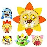 LHYP Juguetes De Madera Pzzle Stacking Blocks Educación Preescolar (Animal Mask) Regalos Juguetes para Niños 2 3 4 5 6 + Años De Edad Niños Pequeños Niñas 56 Piezas